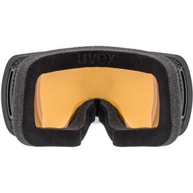 UVEX Compact FM Gafas, black mat/fullmirror orange